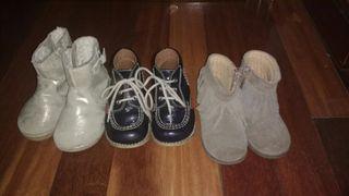 3 pares botas número 21