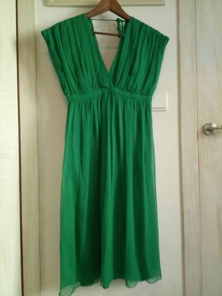 Vestido verde Mango talla M