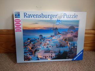 1000 pieces puzzle (Ravensburger Greece landscape)