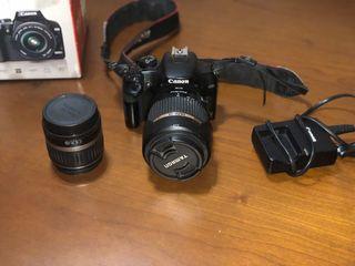 Cámara Réflex Canon EOS 1000D + Objetivos Tamron