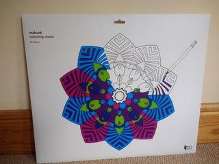 Mandala colouring sheets, 52cm x 42cm, 20 pieces
