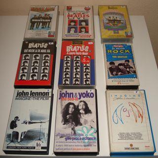 THE BEATLES. PRECIOSO LOTE DE 9 CINTAS VHS