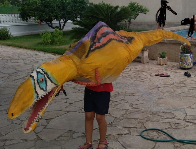 traje de dinosaurio
