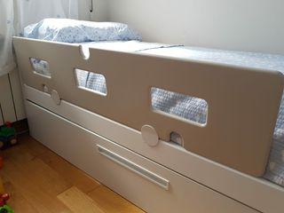 Barrera protectora cama niño
