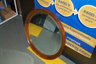 Espejo de casa vintaje redondo 67 cm. Madera