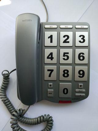 Teléfono fijo teclas grandes