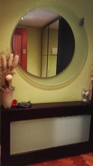 Conjunto cubreradiador espejo