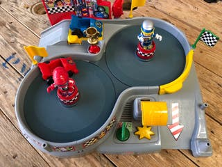 Circuito de carreras Spin n' Crash Fisher-Price