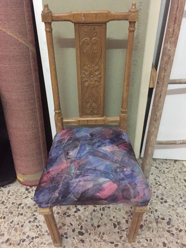 Sillas comedor vintage. Tengo 6 sillas de segunda mano por 4 € en ...