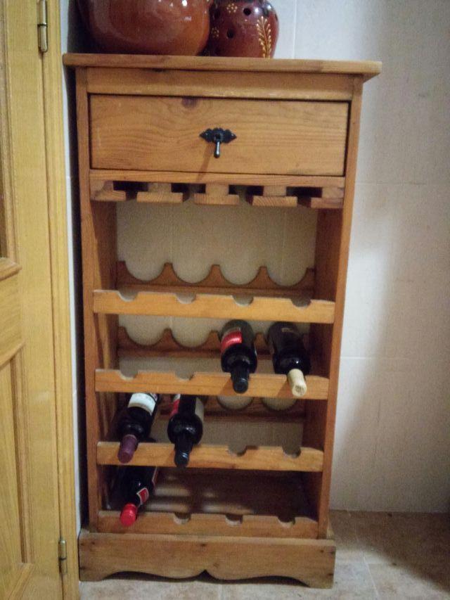 Mueble madera botellero rustico cocina/comedor de segunda mano por ...