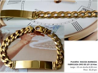 Pulsera de oro esclava de segunda mano en WALLAPOP 59d67b82d64
