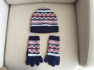 Conjunto gorro y guantes niño