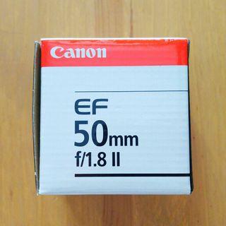 Objetivo Canon EF 50mm 1.8 II - FULL FRAME