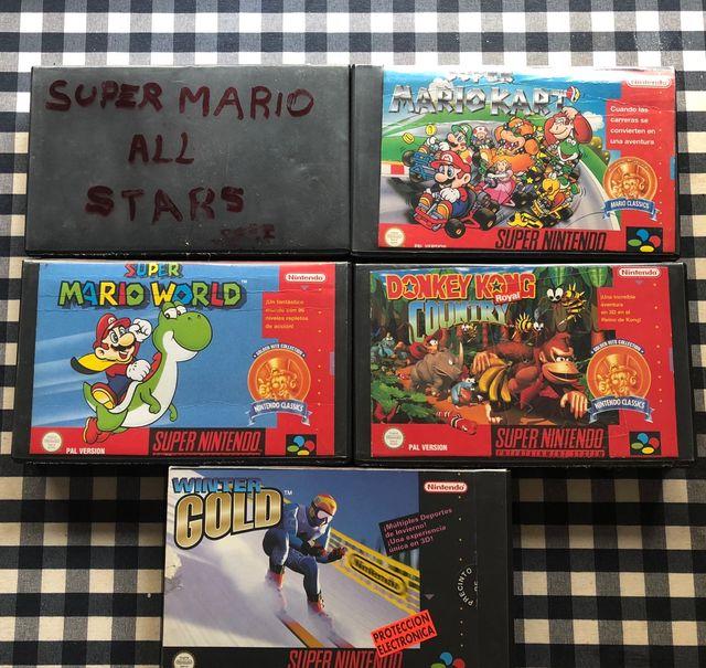Pack De Juegos Snes Super Nintendo De Segunda Mano Por 75 En