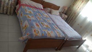 2 camas de matrimonio con cabezal y todo