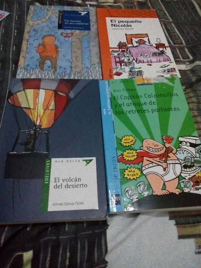 libros lectura 5y 6 del colegio La paz