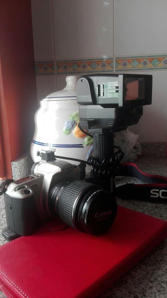 camara reflex analogica canon eos 300 con flash