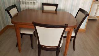 mesa comedor extensible madera maciza