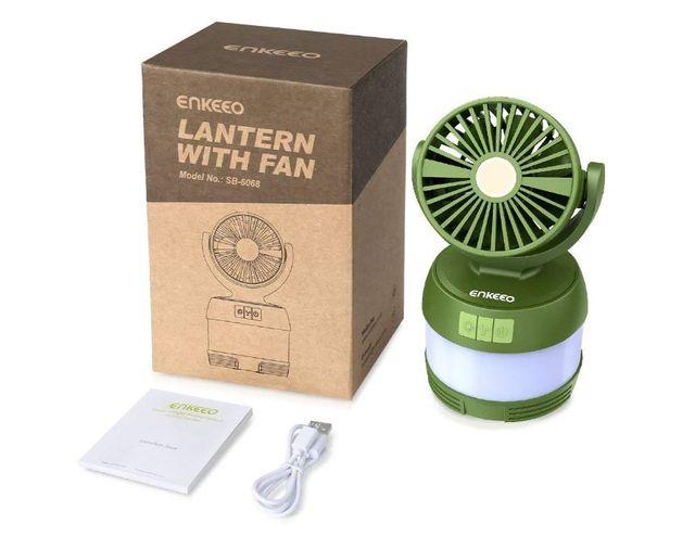 Linterna camping - ventilador - power bank, 3 en 1