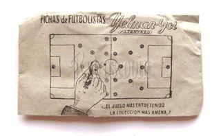 SOBRE FICHAS DE FÚTBOL YELMAN GOL AÑOS 50 - 60