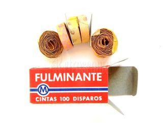 CAJA FULMINANTES 6 ROLLOS MIXTOS 100 TIROS AÑOS 60