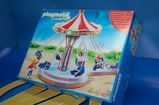Playmobil-Carrusel con Columpios Voladores 5548