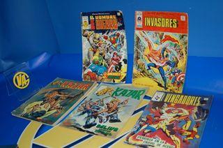 Lote de 5 comics ediciones vertice y surco