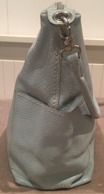 Bolso bandolera en piel verde agua claro