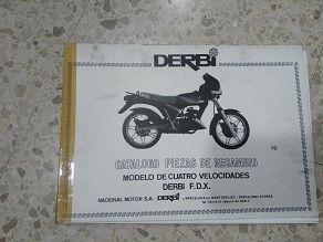 Catalogo piezas Derbi FDX