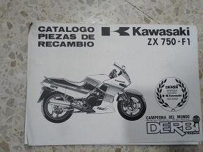 catalogo piezas Kawasaki ZX 750 F1