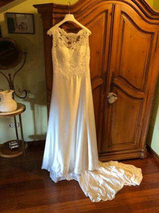 vestido de novia talla 44 de segunda mano en torrelavega en wallapop