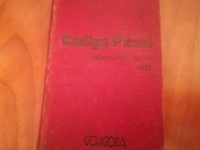 antiguo Código Penal 1933
