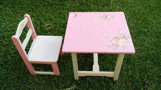 Mesita y silla infantil