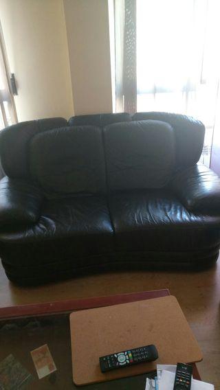 sofa 2 plazas de piel 100%