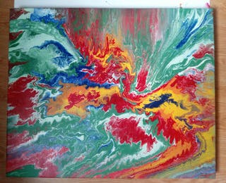 Cuadro Cascada de colores