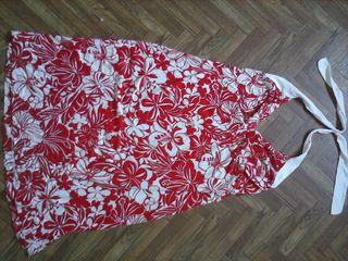 vestido flores escote atar cuello, espalda al desc segunda mano  España