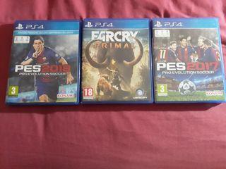 3 juegos PlayStation 4