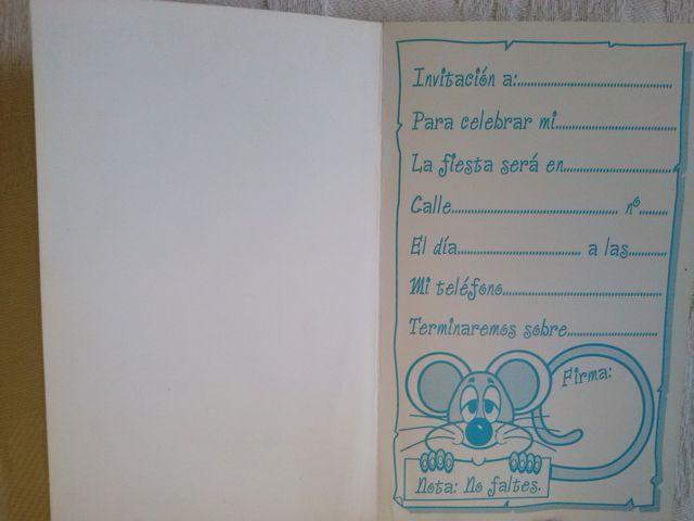 Tarjetas De Invitación A Fiestas Años 80 90 De Segunda Mano