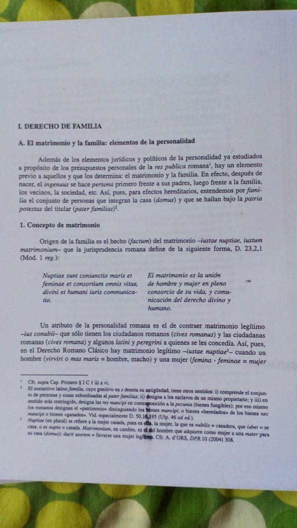 Matrimonio Romano Iustae Nuptiae : Libro derecho romano. fernando betancourt de segunda mano por 10
