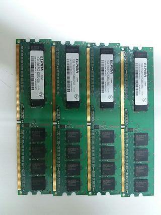 Memoria Ram Elpida 1GB 1Rx8 PC2-5300U-555 12-D0