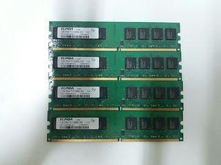 Memoria Ram Elpida 1GB 2Rx8 PC2-5300U-555 12-E0