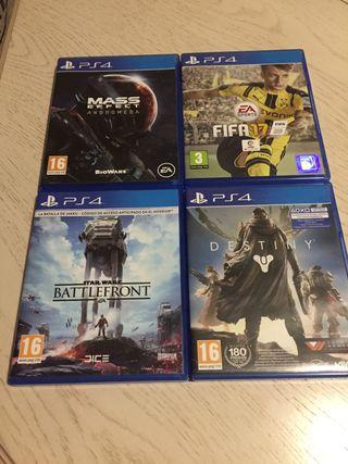 Pack 4 juegos playstation 4