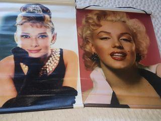 Láminas enrollables Marilyn y Audrey