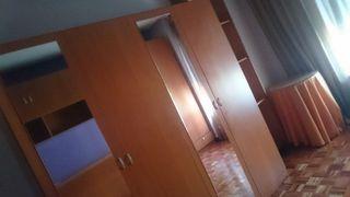 Armario de 4 puertas, de madera color cerezo Armar