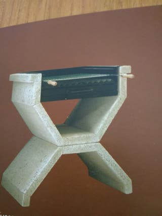 Barbacoa piedra artificial