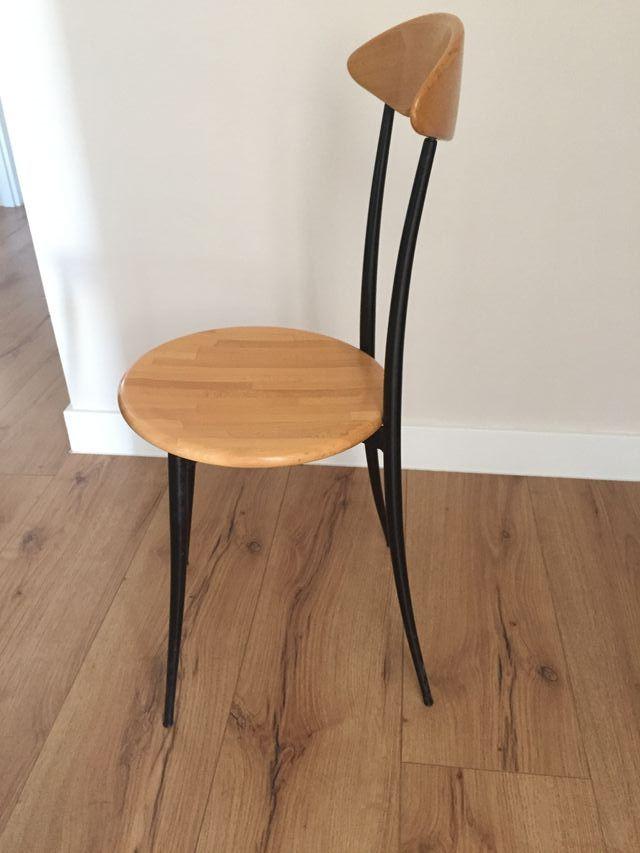 Sillas cocina diseño vintage madera y metal de segunda mano por 15 ...