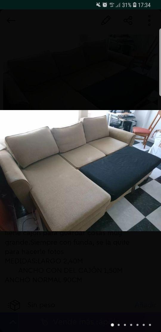 Sofa 3 Plazas Forma De L De Segunda Mano Por 370 En Xirivella En