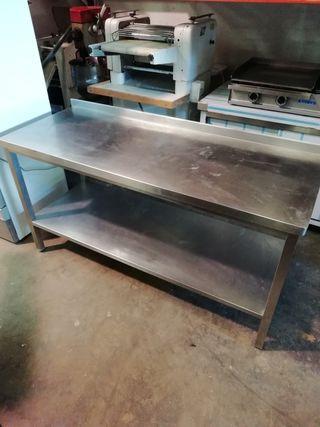 mesa acero banco hostelería
