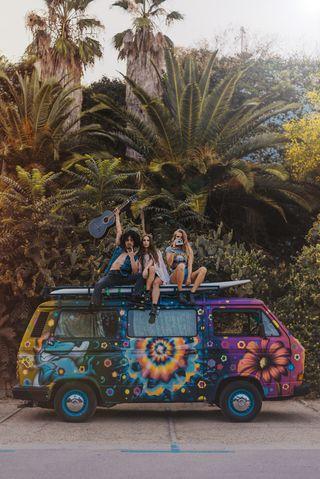 Hippie Van Flower Limusina