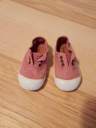 Zapatillas victoria rosa palo. N 22